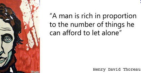 Quote about poverty Henry David Thoreau