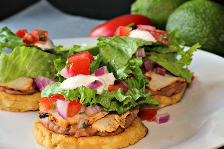Easy Mexican Sopes are fresh and tasty appetizers that will be a hit at your next party - top them with your favorites like beans, cheese and sour cream!