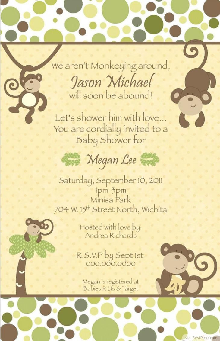 Baby Shower Invitations Free Templates Online Magnificent 62 Best Art Images On Pinterest  Monkey Baby Showers Invitations .
