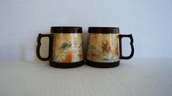 Rare Thermos Coffee Mugs Thermo-Serv by ManyAMoonsVintage on Etsy