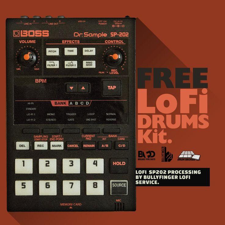 Free Drum Samples LoFi Drums Kit (Free Download)