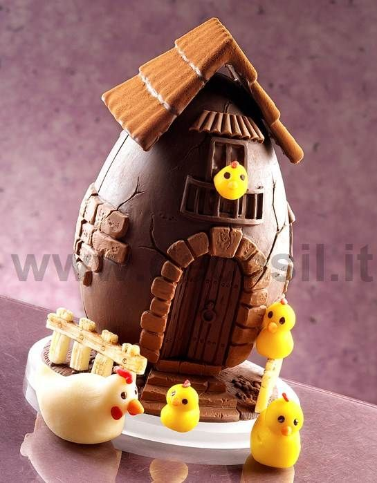 chocolate egg mould, Chocolate Mould Farm Egg, Moulds for Easter decorations, chocolate easter egg mould #chocolate #easter buy now the mould on www.decosil.eu