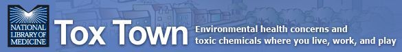 Tox Town - Town - Your health, toxic substances, and the environment in a small town or suburban neighborhood, illustrated