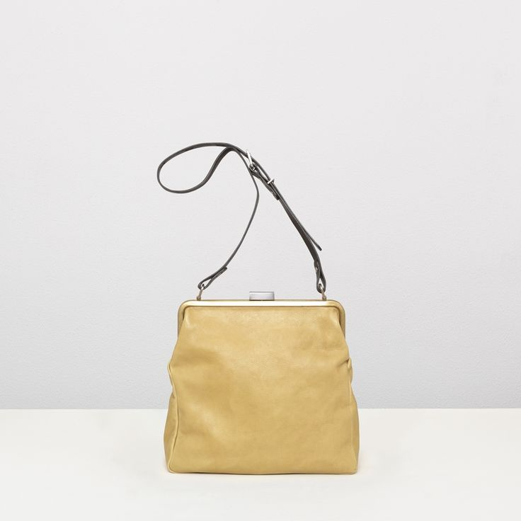 Leather shoulder frame bag in olive | Ally Capellino | Ally Capellino