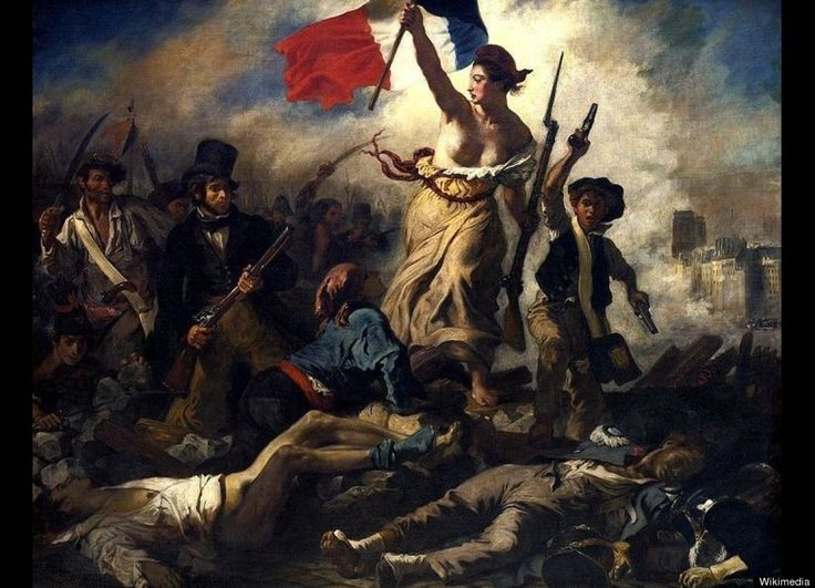 Louvre, Paris. This painting by Eugene Delacroix is called Liberty Leading the People, 1830.