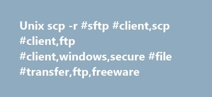 Unix scp -r #sftp #client,scp #client,ftp #client,windows,secure #file #transfer,ftp,freeware http://south-africa.nef2.com/unix-scp-r-sftp-clientscp-clientftp-clientwindowssecure-file-transferftpfreeware/  # WinSCP Free SFTP, SCP and FTP client for Windows Введение WinSCP – это графический клиент SFTP (SSH File Transfer Protocol) для Windows с открытым исходным кодом. Он также поддерживает [устаревший] протокол SCP (Secure Copy Protocol). Предназначен для защищённого копирования файлов между…