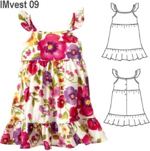 Moldes de vestidos de bebé - Imagui                                                                                                                                                                                 Más