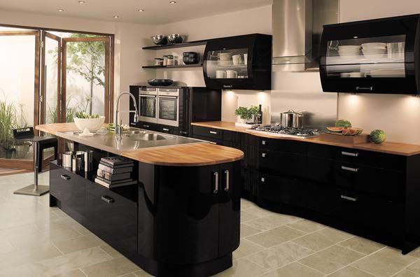 3 dark kitchen cabinets decoration