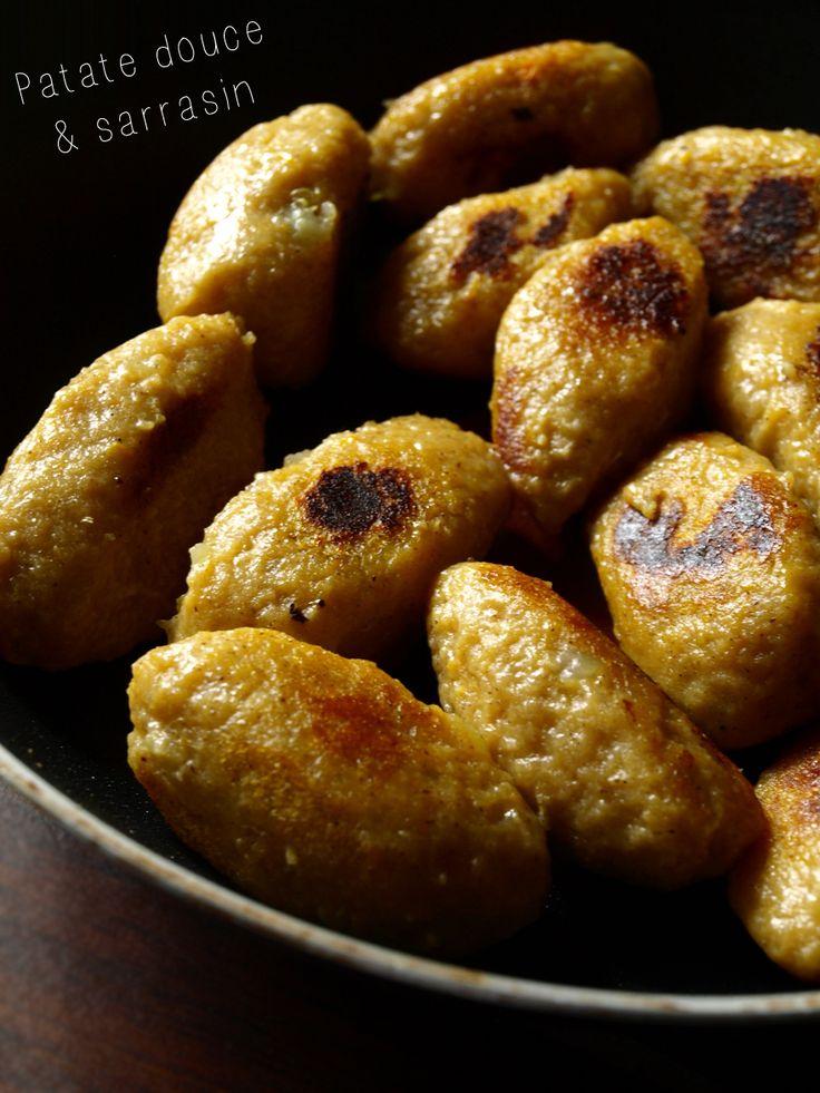 Quenelles de patate douce au sarrasin (sans gluten)