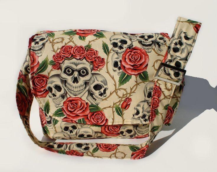 Skulls & Roses Bag Tan – Bump & Bunny