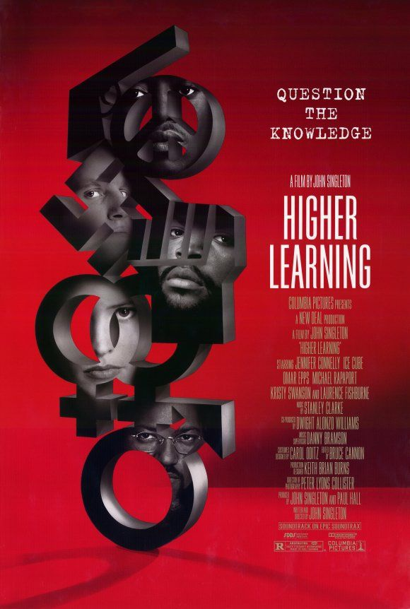 HIGHER LEARNING examines the personal, political, and racial dilemmas facing a group of college freshmen as they begin their first semester at Columbus University. / dir. John Singleton (1995)