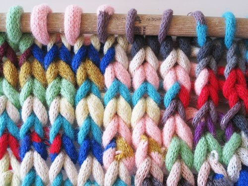 dashedlines: Chunky Warmos (by SWNKDLLR) --i guess you make an i-cord and then knit THAT! cool