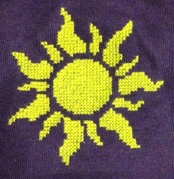 Disney's Tangled Inspired Golden Sun Cross by SpriteShirts on Etsy, $28.50