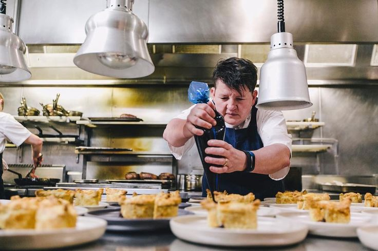 It's hot in the kitchen at @circatheprince as guest chef @kittensmithers puts the final touches to her delectable boar + wild rabbit pâté de coûte.