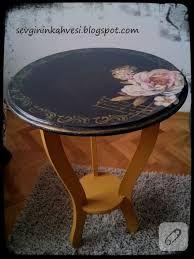 vintage yuvarlak masa ahşap boyama ile ilgili görsel sonucu