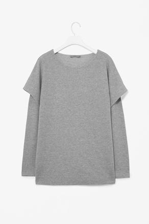 COS, Layered gray jersey top #minimalist #style #fashion