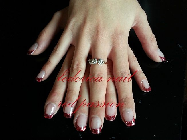 french red glitter