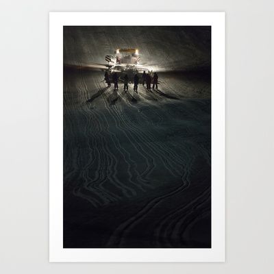 Epic cat light at Nine Knights 2014 Art Print by Håkon Jørgensen - $15.00