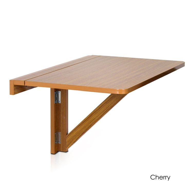 furinno wallmounted dropleaf folding table cherry brown