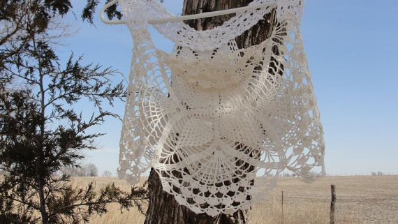 Vintage lace doily handmade ooak crochet lace top by SummersBreeze, $29.99