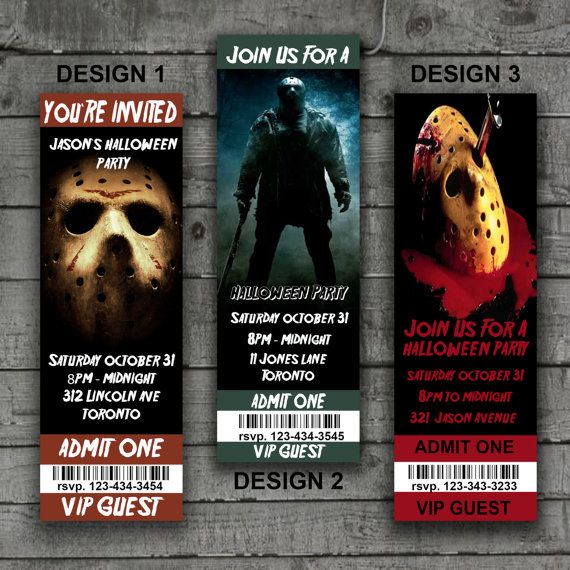 Friday The 13th Halloween Invitations, Halloween Party ...