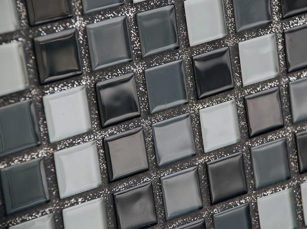 sparkling mosaic tile grout Glitter Grout with Black/silver/white tiles