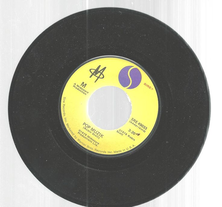 Robin Scott Pop Muzik M Factor 45 RPM Sire Records 1979 SRE 49033  #1970s