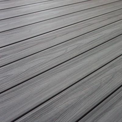 NewTechWood UltraShield Magellan Series 0.9 in. x 5.5 in. x 16 ft. Solid Composite Decking Board in Westminster Gray with No Groove-US07-16-GY - The Home Depot