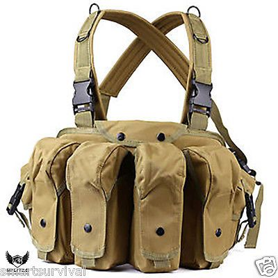 Tan #tactical vest  webbing belt / army #chest rig / #airsoft, paintball ammo rig,  View more on the LINK: http://www.zeppy.io/product/gb/2/271961765351/