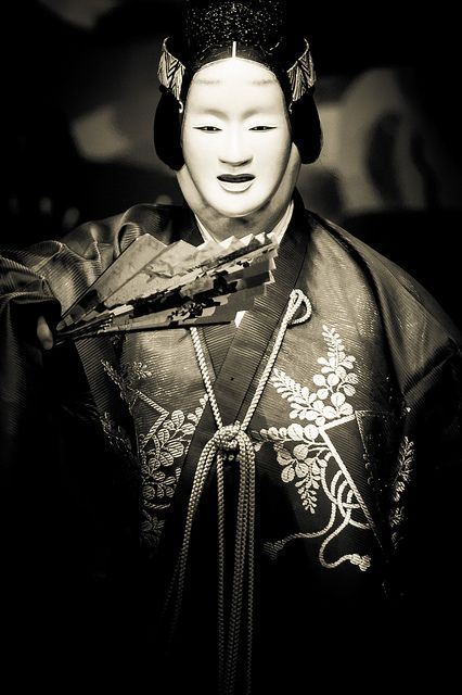 Japanese traditional theater, Noh 能 - the oldest of Japan's theatrical arts. It is a comprehensive art form, embodying not only music, dance and literary art, but also sculpture, dyeing and weaving, and construction arts.