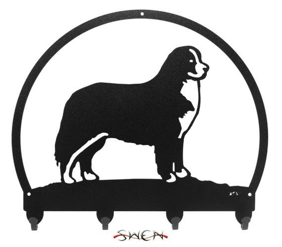 SWEN Products WIREHAIRED DACHSHUND Dog Black Metal Key Chain Holder Hanger