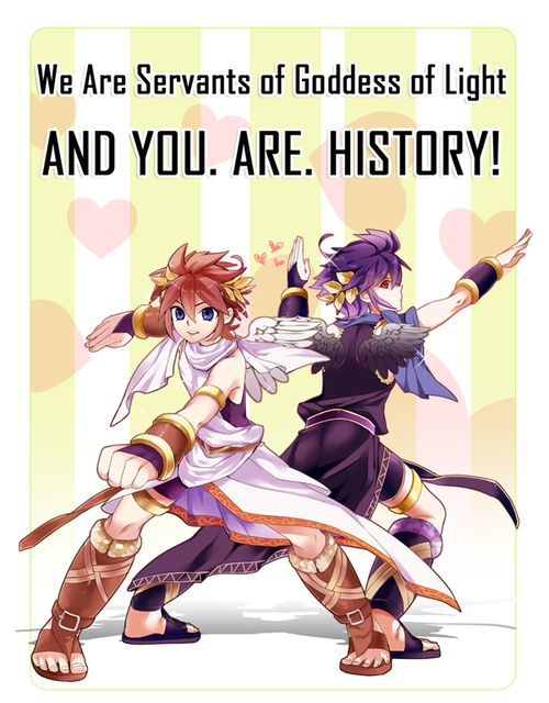 AWWW YEAHHHH!!! | Kid Icarus Uprising | Pit | Dark Pit | http://bonbonbunny.com/categories/gaming