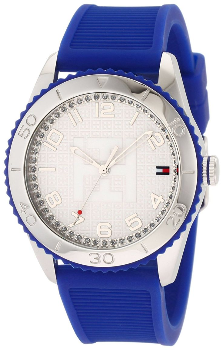 Tommy Hilfiger Women's 1781129 Sport Stainless Steel Cobalt Blue Silicon Watch *** Continue to the watch at the image link.