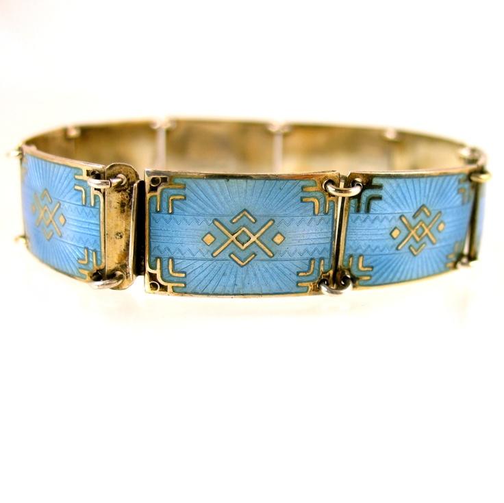 Vintage orway enamel bracelet by Bernard Meldahl