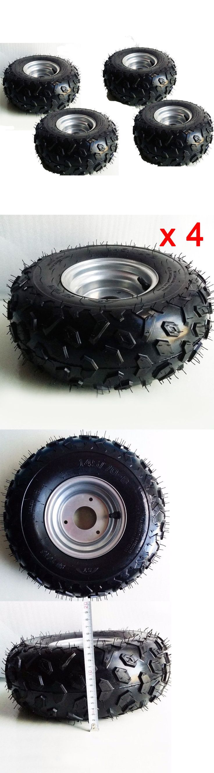 Parts and Accessories 64657: 4X Go-Kart Atv Tire With Wheel Assembly 145/70-6 Rim Go Kart Mini Bike BUY IT NOW ONLY: $99.99