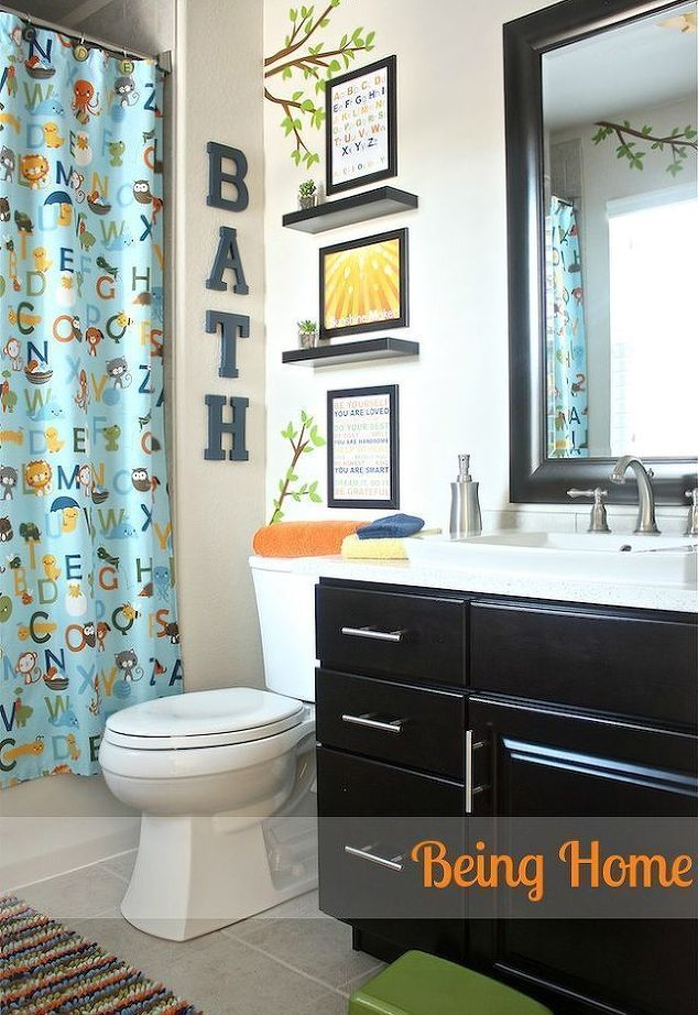 Bathroom Decorating Ideas Kids Bathroom Ideas Small Bathroom Ideas Wall Decor Kids Bathroom Makeover Kid Bathroom Decor Boys Bathroom