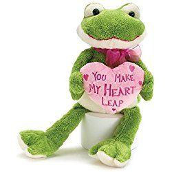 "Burton and Burton Sammi The Frog ""You Make My Heart Leap"" Valentine Plush"