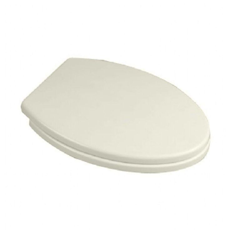 American Standard Tropic Elongated Closed Front Toilet Seat in Linen