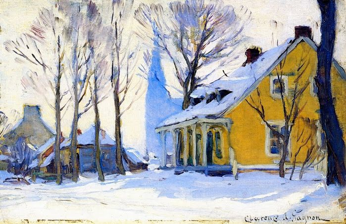 akaixab: Clarence Gagnon: Canadian Village, Grey Day (c. 1908-1912).
