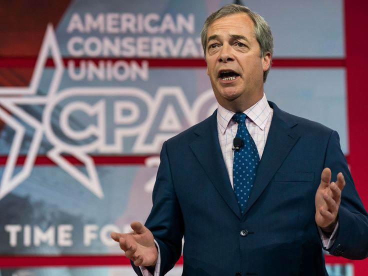 """Nigel Farage has vowed to return to frontline politics if the British public are given a second EU referendum.  The former Ukipleader was speaking at the Conservative Political Action Conference when he claimed that if the public were consulted again he would """"be there"""" and """"it'll be no more Mr Nice Guy"""". Mr Farage also said supporting Donald Trump """"was the best decision I've ever made in my life""""."""