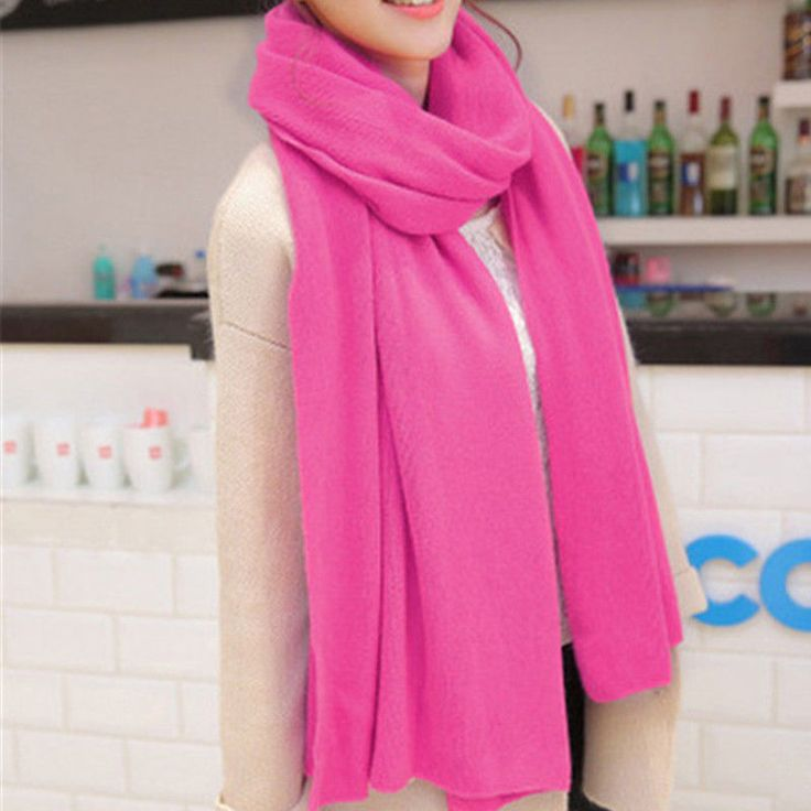 2017 Winter 20050Cm Woman Solid Scarf Coldproof Pashmina Wrap Shawl Neck Warme