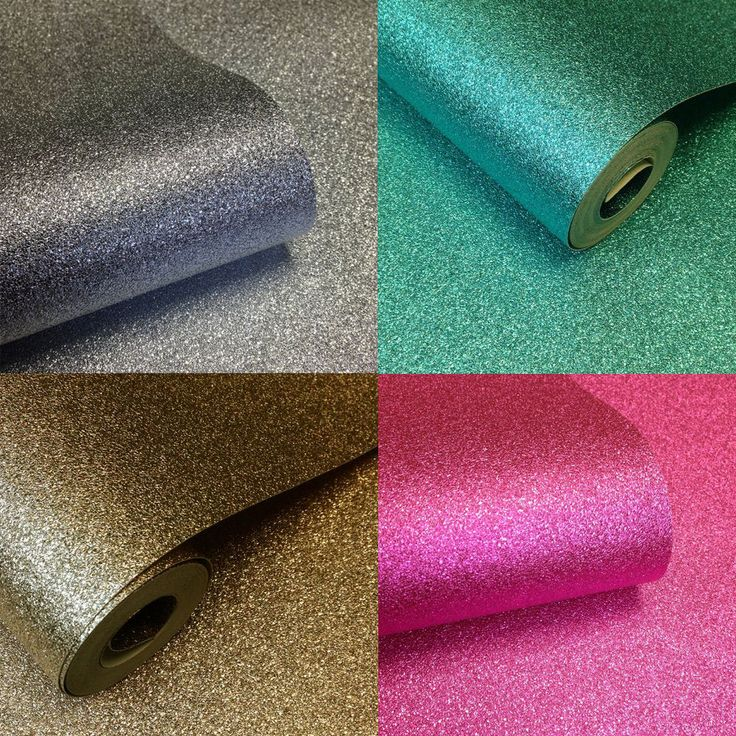 I Love Wallpaper Glamour Glitter Wallpaper Gold Pink Silver Teal Lilac Black in Home, Furniture & DIY, DIY Materials, Wallpaper | eBay