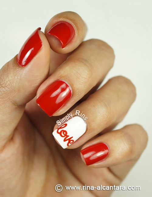 Love Nail Art Design by Simply Rins