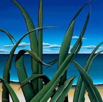 Harakeke Shoreline by Diana Adams