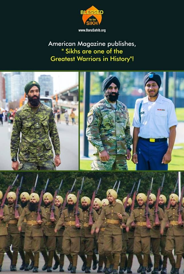 """#BlessedtobeSikh  American Magazine publishes,"""" Sikhs are one of the Greatest Warriors in History""""!  Read More https://barusahib.org/general/american-magazine-publishes-sikhs-are-one-of-the-greatest-warriors-in-history/  Share & Spread to salute and honour the sacrifices of our #SikhHeroes!"""