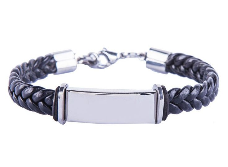 Complete your look with this Men's Stainless Steel Silicon Wristband by 24:01. Wristband with woven and metal accent. Stainless steel accent and silicone band combination made this wristband look simple but stylish. http://www.zocko.com/z/JG0a5