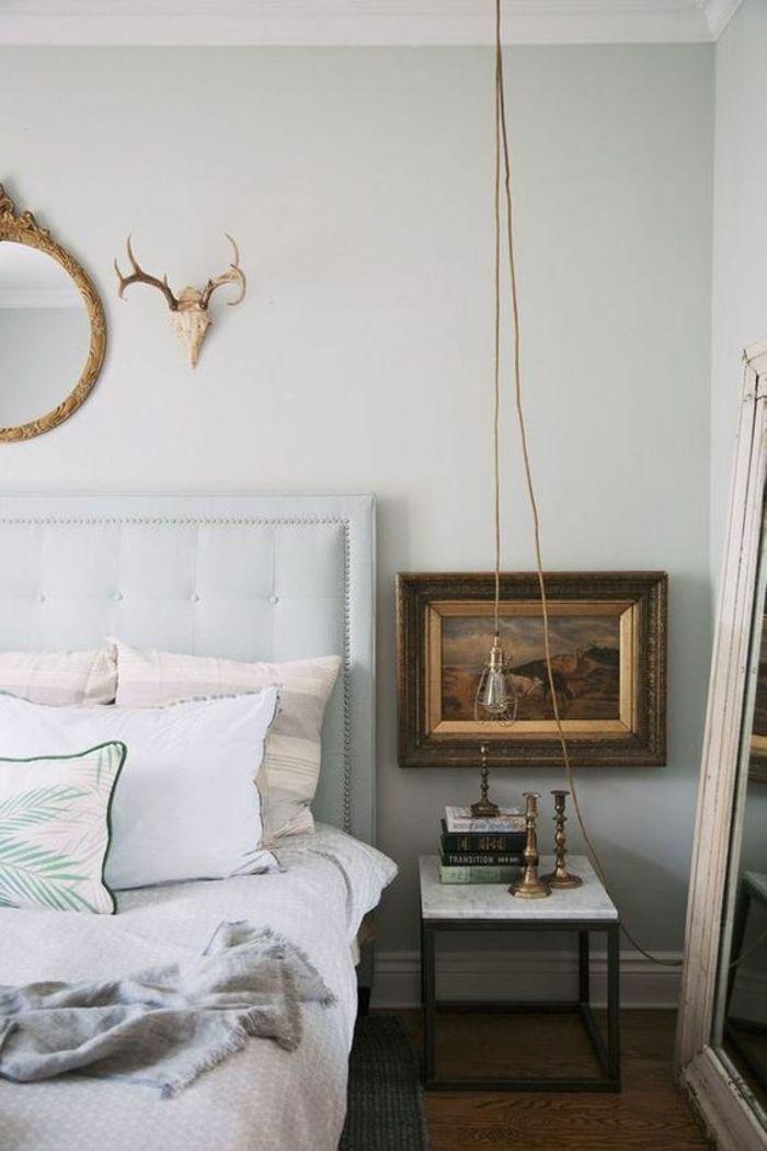les 25 meilleures id es de la cat gorie chevet suspendu. Black Bedroom Furniture Sets. Home Design Ideas