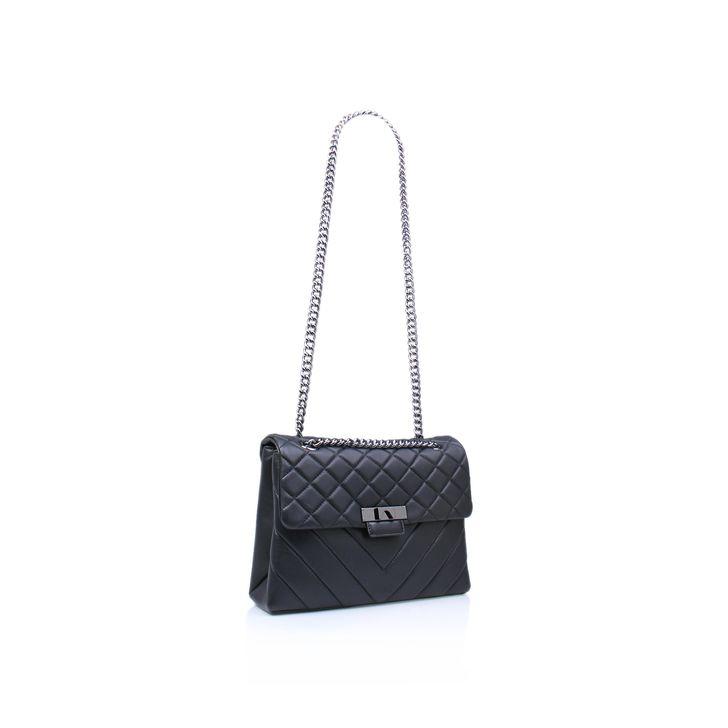 Leather Lg Kensington Bag Black Shoulder Bag By Kurt Geiger London | Kurt Geiger