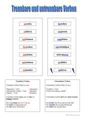 Trennbare Verben 2 Arbeitsblatt - Kostenlose DAF Arbeitsblätter