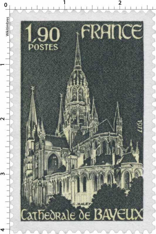 Timbre : 1977 CATHÉDRALE DE BAYEUX | WikiTimbres